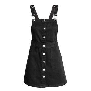 3 / $30! ♡ H&M Divided Black Denim Overall Dress